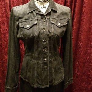 DKNY Black Wash Denim Jacket